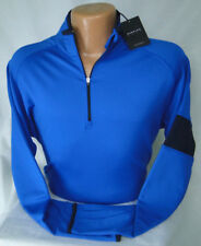 Dunning Golf L/S Stripe Sleeve Quarter Zip Popover in Royal MSRP $115 NWT - XL