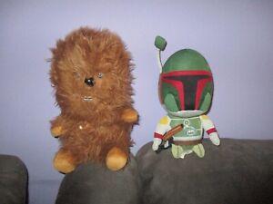 Star Wars-Jango Fett & Chewbacca soft plush toys bulk lot