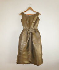Original Vintage 1960s METALLIC PARTY DRESS Unworn XXS Bevera Fashions Sydney