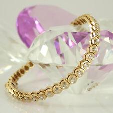 Armband in 585 Gelbgold 14K mit 45 Diamanten ca 0,45 ct Wesselton si 18 cm 14 g