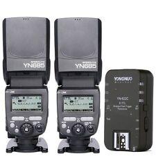 2 x Yongnuo YN685 Wireless Speedlite Master Flash + YN-622C Trigger for Canon UK