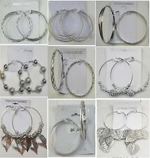 SU-13 Wholesale jewelry lots 9 pairs Silver Plated Hoop fashion Earrings