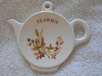 M&S Marks & Spencer Harvest Tea Bag Rest Vintage Floral