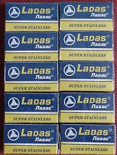 50 Super Stalness Double Edge Razor Blades LADAS 10 packets of 5 for shaving