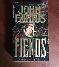 Fiends by John Farris 1990 Uk Paperback Horror Keyhole Cover Stepback Art 1st Ed
