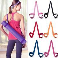 Adjustable Yoga Mat Sling Carrier Shoulder Strap Belt Gym Exercise Sport Fi U7F3