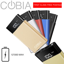 COBIA SLIM-2 12'000 mAh REAL Powerbank with LCD Battery Indicator | 2020 Model