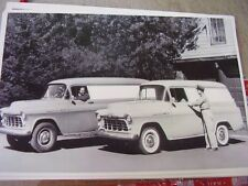 1956 CHEVROLET PANEL TRUCK 3100 & 3600     BIG  12 X 18 PHOTO PICTURE