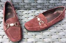 Geox Respira Raspberry Suede Loafers Size 6