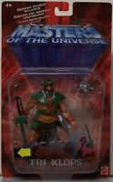 He-Man Masters of the Universe MOTU 200X Tri Klops 2002 Mattel. unopened.