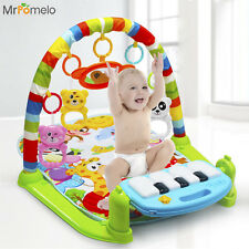 Baby Music Play Mat 3 in 1 Educational Rack Toys Keyboard Infant Fitness Carpet