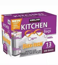 200 Sacs à cordon de serrage Trash Poubelle Liners Bags by Kirkland 50 L