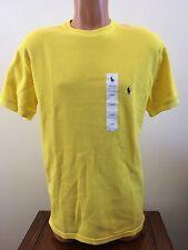 Polo Ralph Lauren Yellow Thermal Waffle Crew Short Sleeve Shirt M Medium Mens