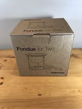 New In Box Tupperware Fondue For Two Set Chocolate Dinner Cheese Bowl Forks