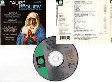 "FAURE ""Requiem"" - DURUFLE - MESSIAEN (CD) 1989 London Musici,Richard Marlow"