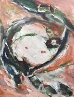 Ölgemälde Abstrakt Komposition Loft Modern Art 50 x 40 cm Zeitlose Kunst