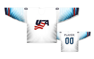 Team USA 2019 white Ice Hockey Jersey Custom Name and Number