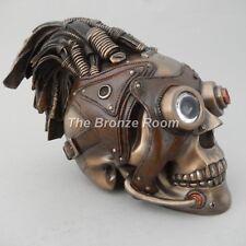 Punk / Gotico / Tribale FANTASY TESCHIO TESTA ornamentale Bronzo-Regalo Insolito