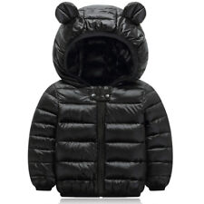 Kids Boys Girls Winter Hooded Warm Quilted Puffer Coat Jacket Outerwear Snowsuit