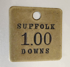 Vintage Suffolk Downs Brass Token: Good For $1.00; Horse Racing Race Track