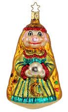 Inge Glas Ltd Ed A Piggy Prediction 1-025-04 German Glass Christmas Ornament