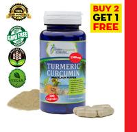 TURMERIC CURCUMIN w/* BLACK PEPPER 1500mg Longa Root Curcuma 95% Curcuminoids 3X