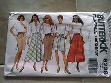 Butterick Classice FAst Easy 6228 Misses Pull on Skirt Split Size 12 14 16 Uncut
