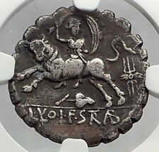 Roman Republic 81BC ZEUS as BULL Abducts EUROPA Ancient Silver Coin NGC i59915