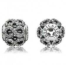 Authentic Pandora ESSENCE 'Dedication' Silver and Zirconia Charm