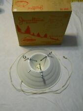 Jeweltone Spincraft Tree Stand White Glittery Electric Metal Christmas W/Box Vtg