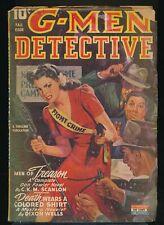 G-MEN DETECTIVE Fall 1943 Pulp Magazine RAFAEL DeSOTO Violent GGA Cover