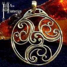 Triskel 7 amuleto bronce Celtic celtas LARP Wicca Gothic
