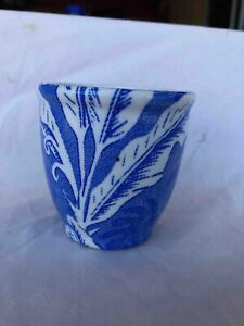 RARE Unused Tepco China Blue Shadowleaf Restaurant Ware Egg Cup