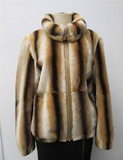 INSTA HAPPY New 100% Chinchilla Rex Fur Jacket Coat Sz M 10-12 Val $7k Handmade