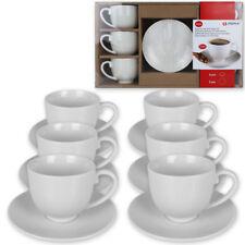 12tlg. Espresso Tassen Set Kaffeetassen Kaffee Tasse Becher Unterteller Wei�Ÿ NEU