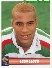 074 LEON LLOYD  LEICESTER TIGERS STICKER PREMIER DIVISION RUGBY 1998 PANINI