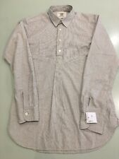 Kent & Curwen. Striped grandad shirt with removable collar. Size Small. RRP £135