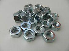 M12/12mm Bright Zinc Plated Hex Full Nuts (BZP) Standard Pitch DIN 934