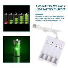 Battery Charger For AA AAA Batteries 4 Ports Battery Charger With USB Plug LK