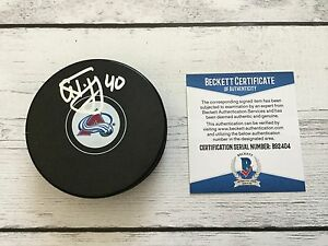 Alex Tanguay Signed Colorado Avs Avalanche Hockey Puck Beckett BAS COA b