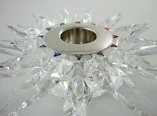 New listing Swarovski Solaris Silver Crystal Tea/Taper Candle Holder Nwt