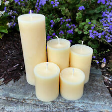 � White Beeswax Pillar Candles 100% Natural Honey Bees Wax Usa Unscented Pure