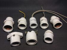Lot anciennes douilles électrique en porcelaine pour lampe vintage atelier usine