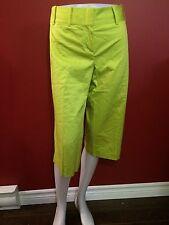 BCBG MAX AZRIA Women's Bright Lime Capri Pants - Size 10 - NWT