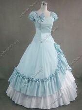 Victorian Southern Belle Alice in Wonderland Dress Gown Halloween Costume 208