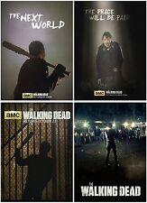 4pc The Walking Dead Season 7 (2016) Postcard Promo Card Photo Collector Card A