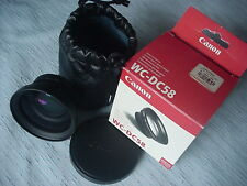 Canon WC-DC58 Wide Converter 0.8x for powershot G1/G2 - NEW in Factory Box