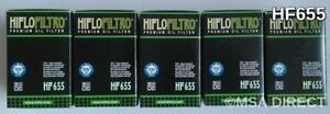 KTM 250 Xc-F / Xcf-W (2007 A 2012) Hiflofiltro Filtro Olio (HF655) X 5