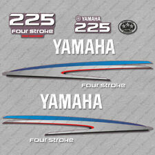 Yamaha 225 HP Four Stroke Outboard Engine Decals Sticker Set reproduction