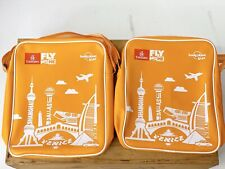 2- Emirates Airline Lonely Planet Fly With Me Orange Dubai Amenity Kit Bags KIDS
